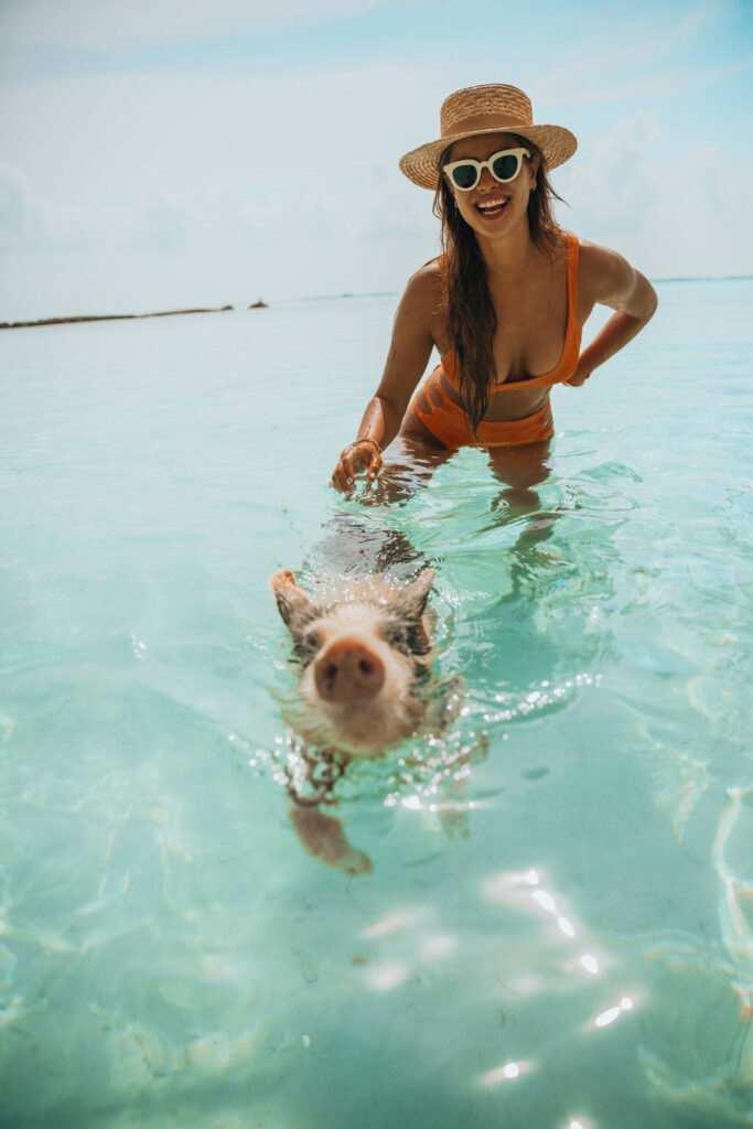 Spring break in the Bahamas