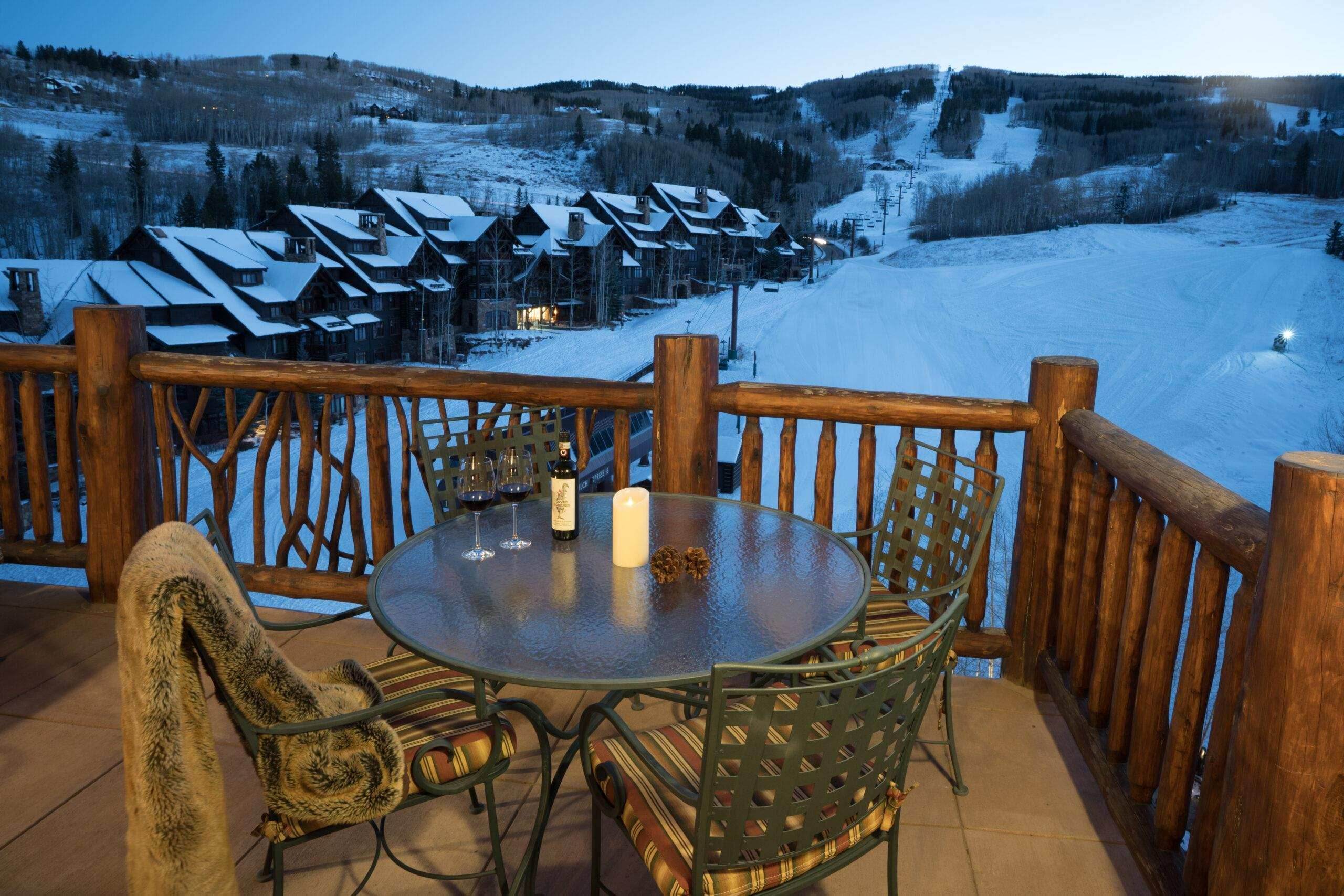bachelor gulch ski in ski out vacation