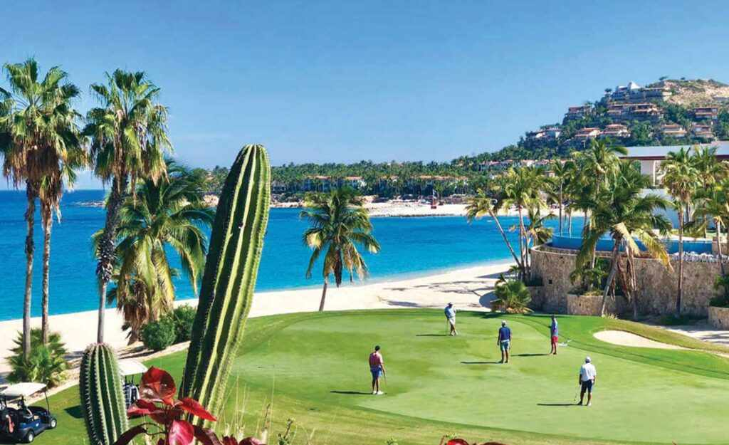 Group golfing in Cabo