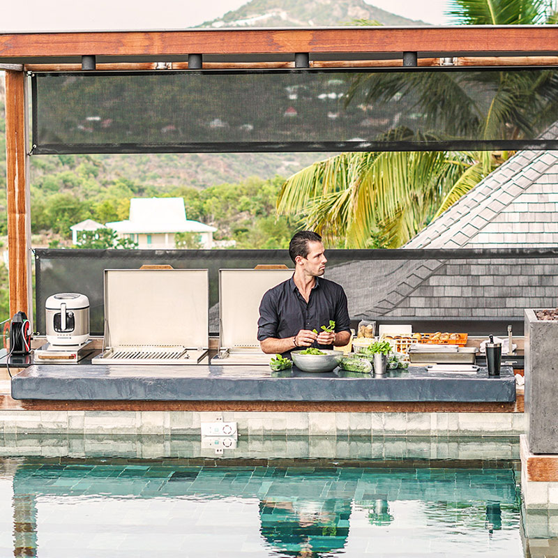 Sushi making in St Barts