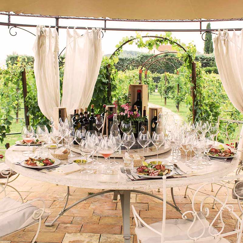 Tuscany helicopter winery tour
