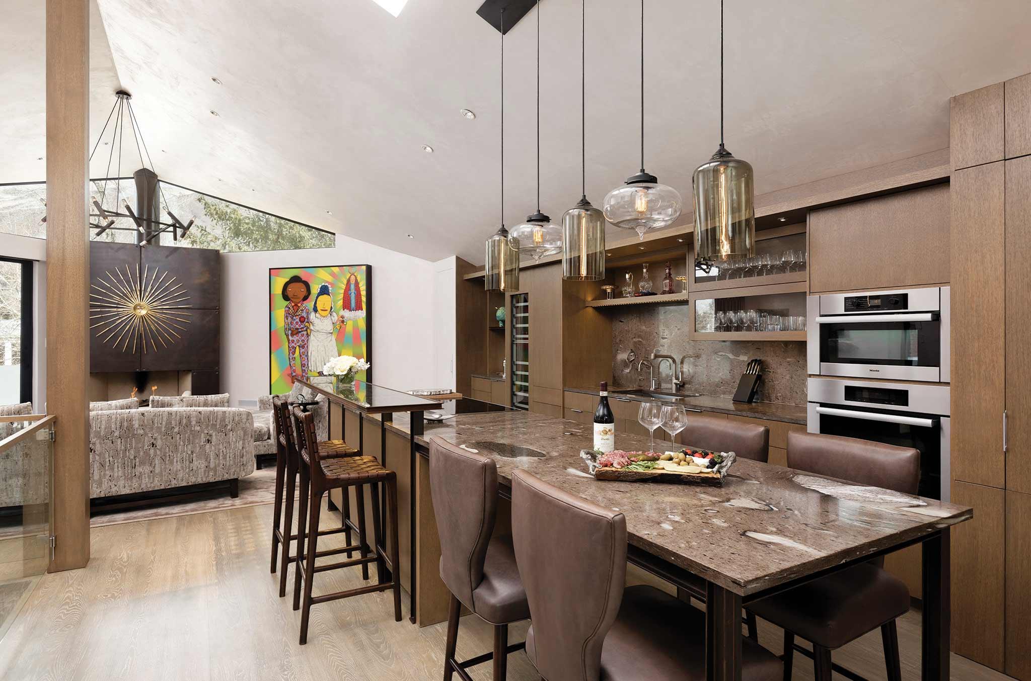 Double Diamond Chalet state-of-the-art kitchen in Aspen luxury rental