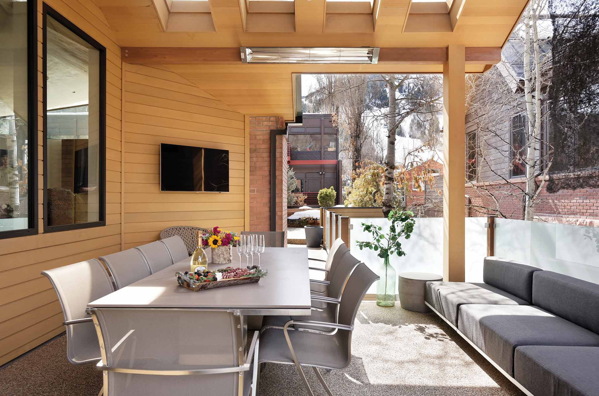 outdoor terrace perfect for entertaining