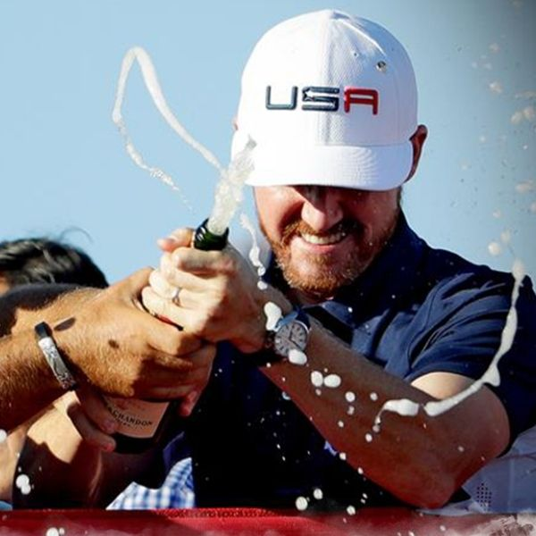 USA celebrates Ryder Cup win