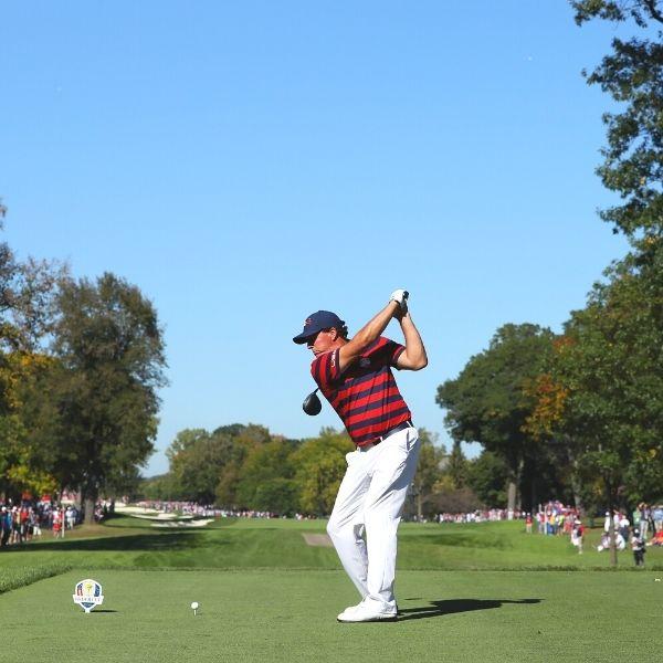 Ryder Cup golfer tees off