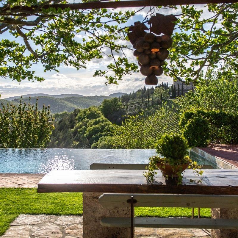 luxurious views of Tuscany