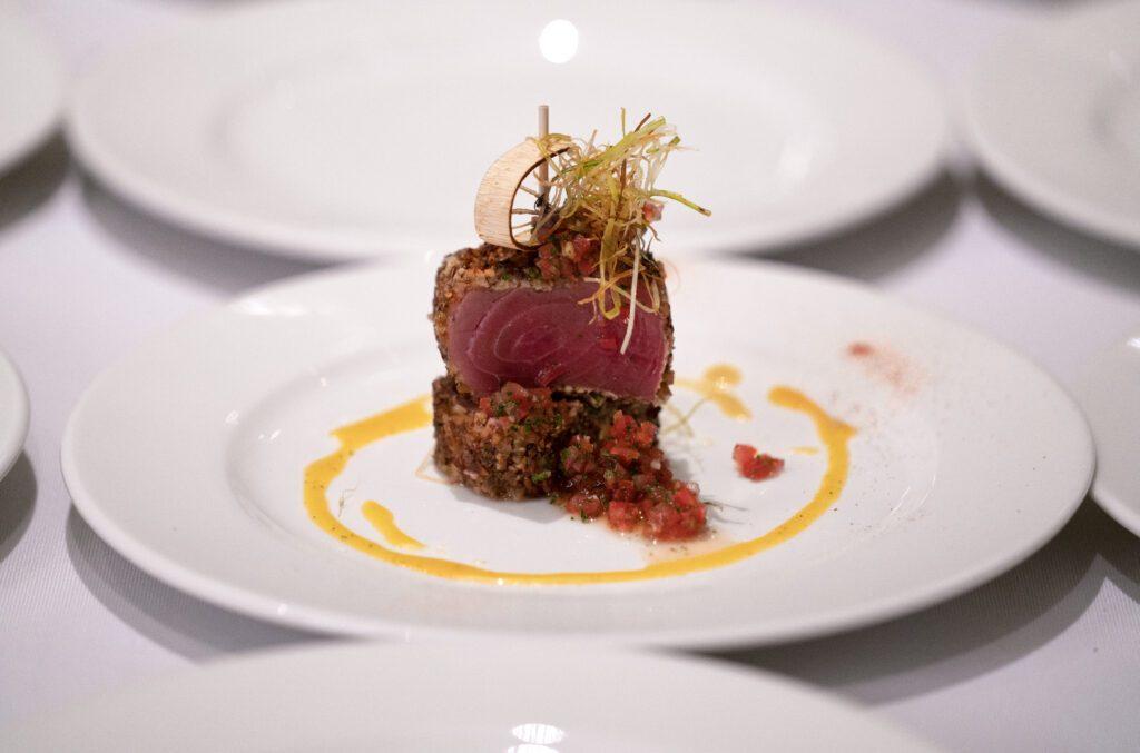 private chef prepared tuna appetizer