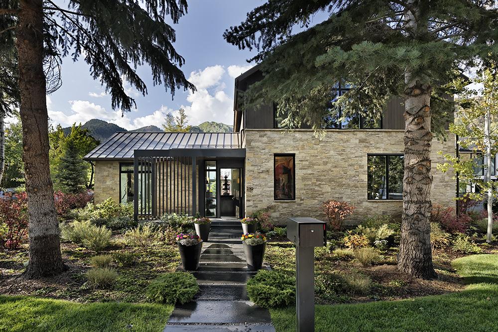 entrance to luxury aspen rental