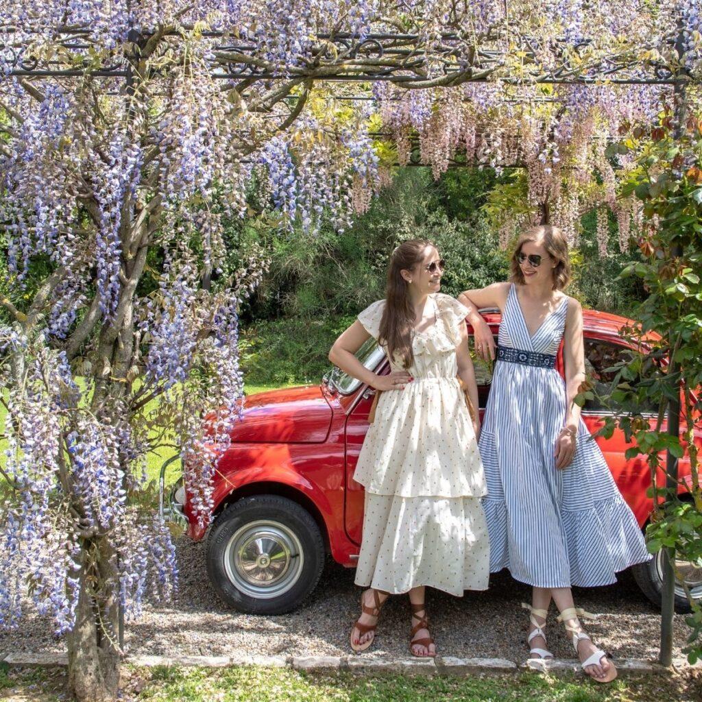 Sarah Flint and Stacie Flinner at Cuvée's Tuscan Farmhouse