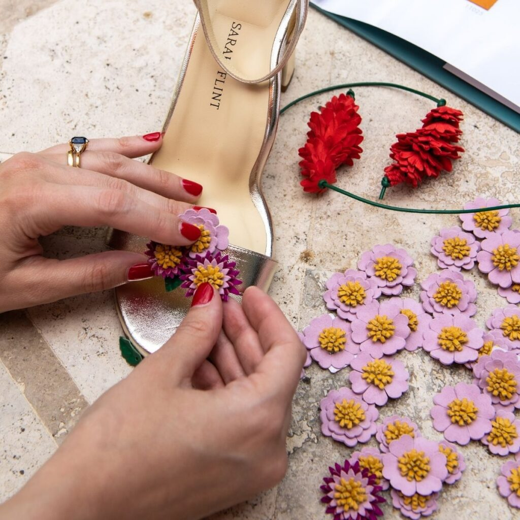designing Sarah Flint heels with Tuscany vacation inspiration