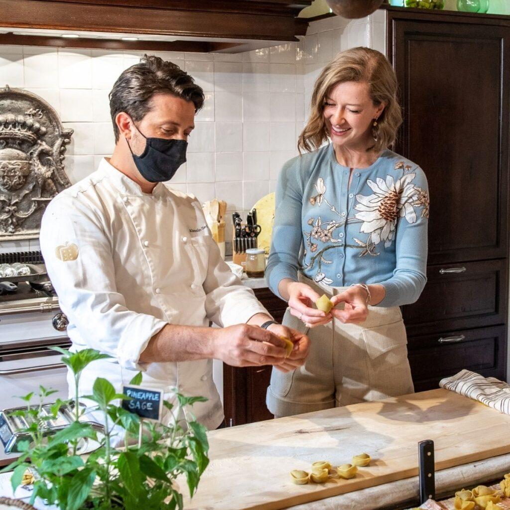 Stacie Flinner in homemade pasta class