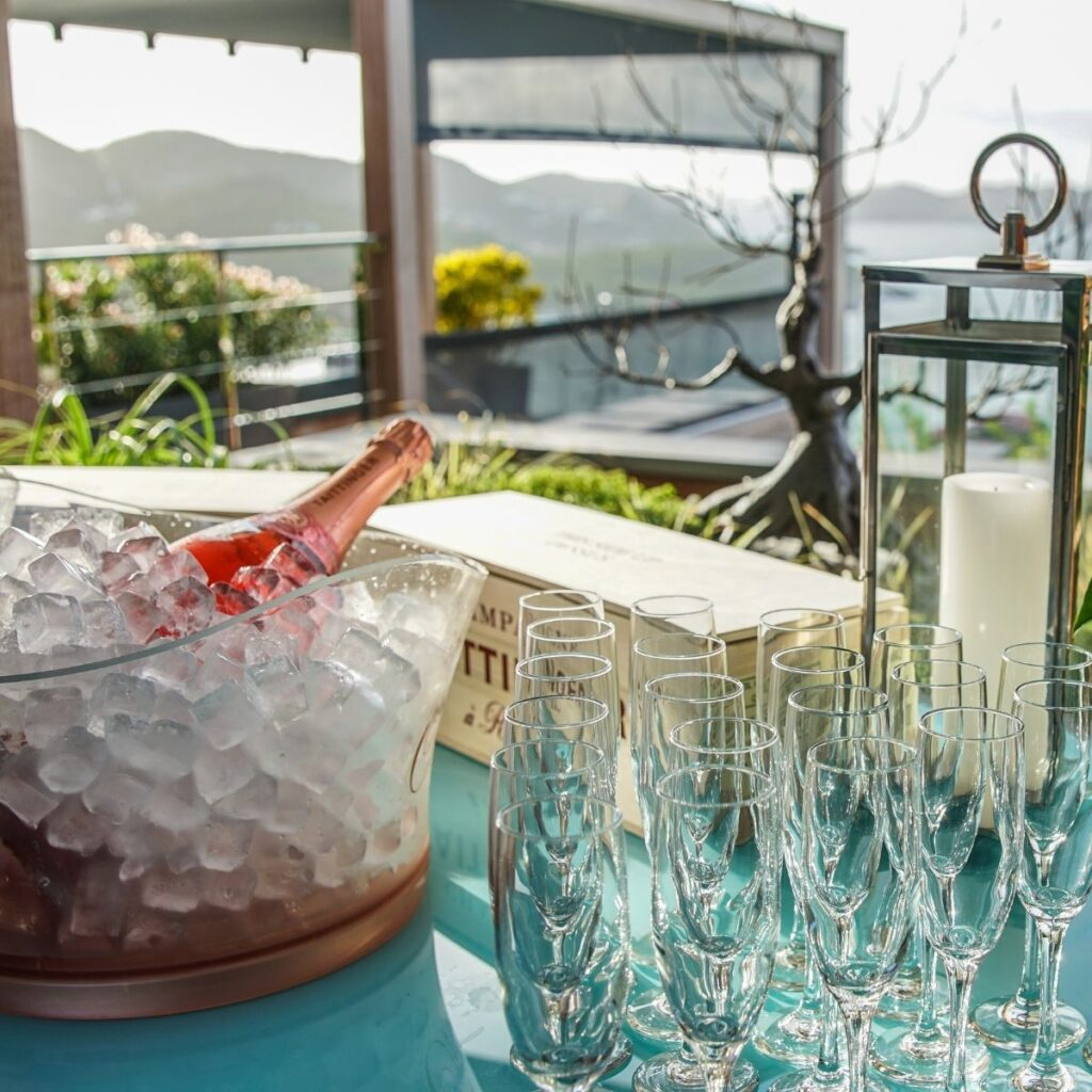 Champagne in St. Barts